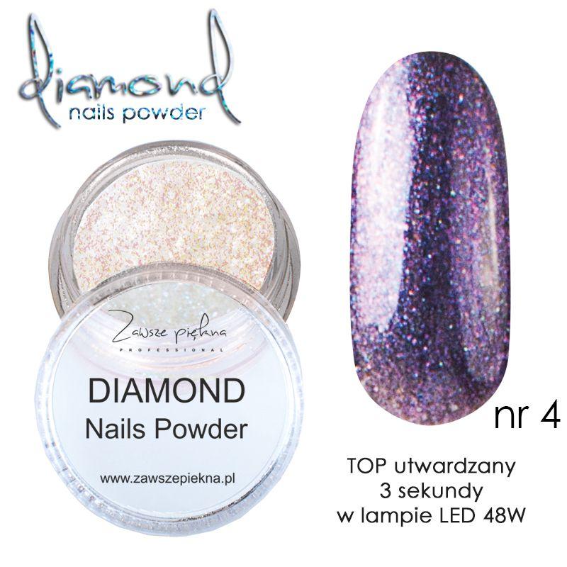 Diamond Nails Powder Violet Diamentowe Paznokcie Zawsze Piękna
